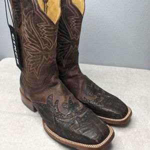 Cinch Caiman Wingtip Cowgirl Boot Square Toe - Cfw152 9 B